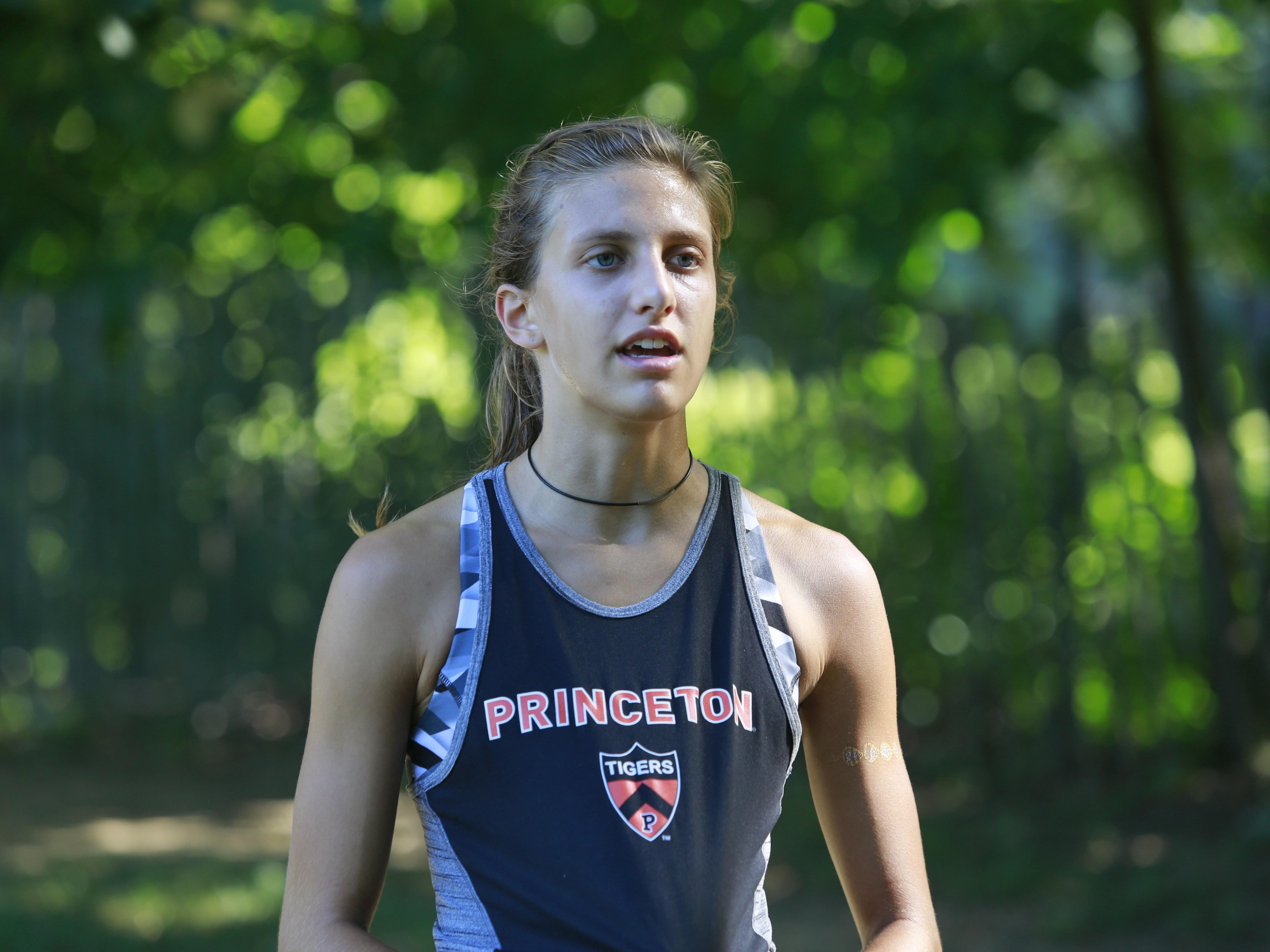 Bronxville's Kate Ryan trains with the Cross Country team at Scout Field in Bronxville on Aug. 23, 2016.