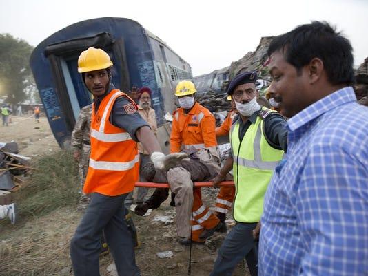APTOPIX India Train Derails