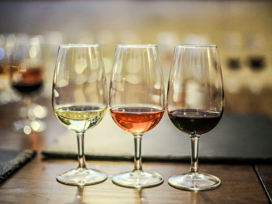 White, rosé and red wine