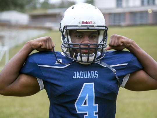 East Gadsden sophomore running back Tony Street is the 2016 All-Big Bend Offensive Player of the Year after rushing for 2,040 yards and 24 touchdowns.