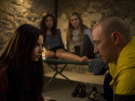 "James McAvoy, Anya Taylor-Joy, Hayley Lu Richardson and Jessica Sula star in ""Split."""