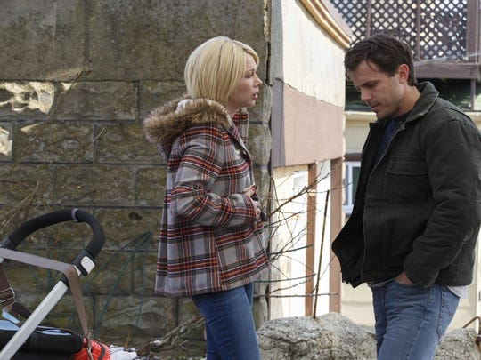 "Michelle Williams, left, and Casey Affleck in a scene from ""Manchester By The Sea."""