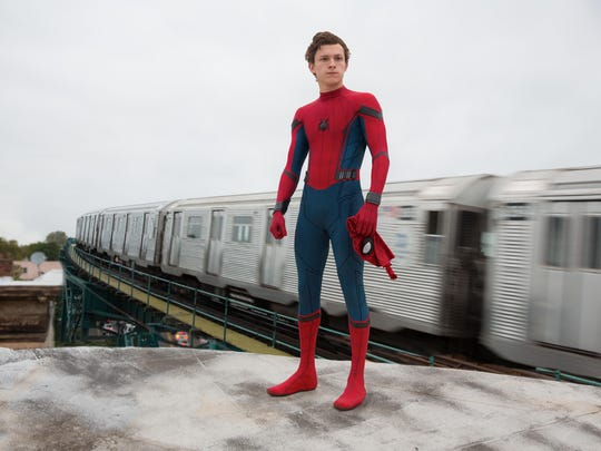 "Tom Holland in ""Spider-Man: Home-Coming."""