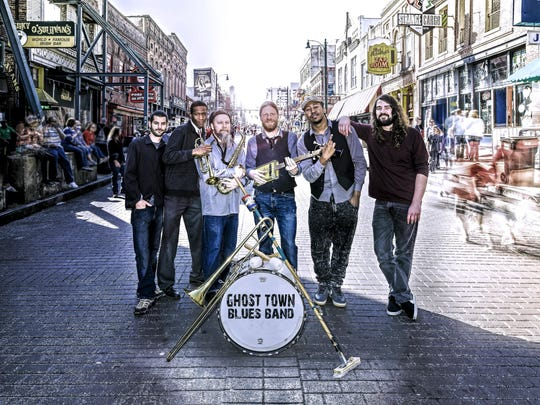 """Ghost Town Blues Band is from Memphis, but """"they have a lot of New Orleans attitude,"""" says organizer Jim Payne."""