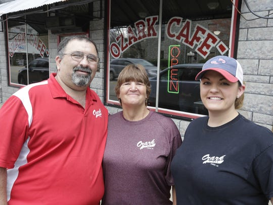 The Ozark Cafe has been in business in Jasper, Arkansas for over 100 years. Russ and Jerri Todd own the restaurant, which is managed by Charlie Brasel, right.