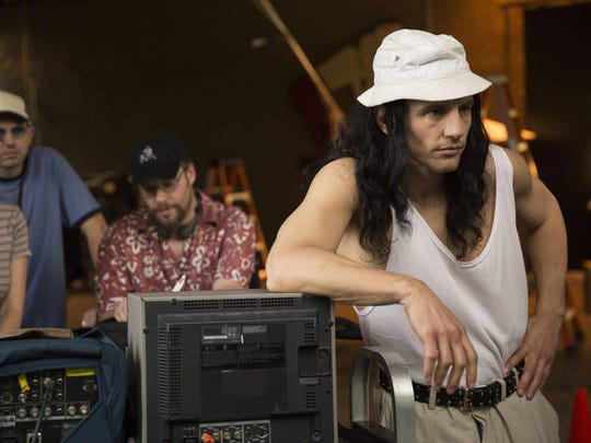 "Paul Scheer (from left), Seth Rogen and James Franco in ""The Disaster Artist."""