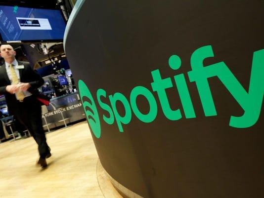 Financial Markets Wall Street Spotify IPO