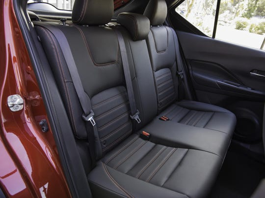 The Kicks' tall seating position and generous headroom