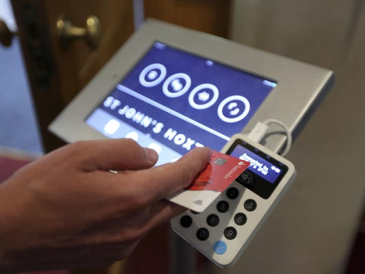 Britain Churches Contactless Donations