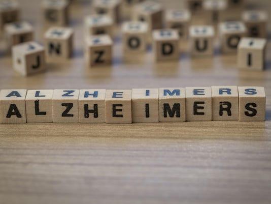 Alzheimers written in wooden cubes