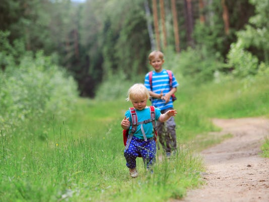 kids go to school, daycare or hiking in nature