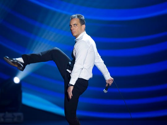 Sebastian Maniscalco performs at the Beacon Theater in New York in this 2016 file photo.