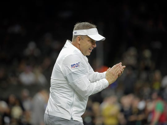 Sep 9, 2019; New Orleans, LA, USA; New Orleans Saints head coach Sean Payton prior to kickoff against the Houston Texans at the Mercedes-Benz Superdome. Mandatory Credit: Derick E. Hingle-USA TODAY Sports