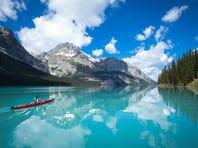 Kayaking Maligne Lake in Jasper National Park is merely one magical adventure awaiting in Alberta