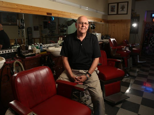 Rick Adkisson owns the Roosevelt Barber Shop. He bought the storied business from the widow of Larry Bristow, the previous owner. The shop was founded in 1919 by Arthur (Dewey) Harmon.