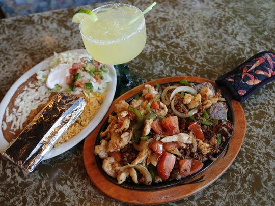 Fajitas rancheras with a margarita at the El Rodeo location in Clive. Other locations are in Urbandale and on Des Moines' northeast side.