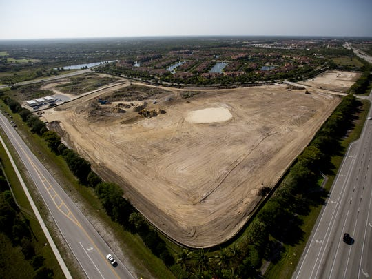 The site of the new Hertz world headquarters. <137>is underway on Tuesday 4/29/2014. The company is coming up on its one year anniversary of its announcement to move to Southwest Florida from Park Ridge, New Jersey.<137>