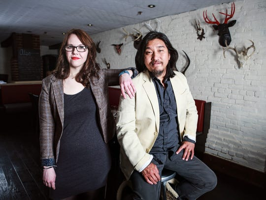 Milkwood chef Edward Lee and general manager Stacie