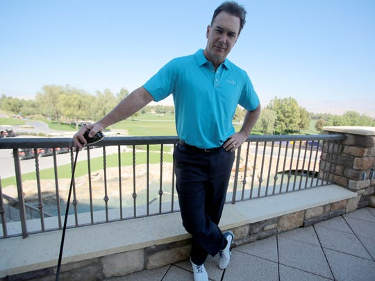 This is the first year that actor Patrick Warburton, pictured Thursday at the Classic Club in Palm Desert, will not golf in his own tournament.