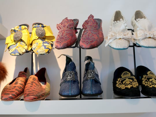 Debra Hovel has many shoes showcased at her Palm Springs home.