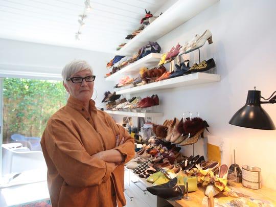 Shoe designer and maker Debra Hovel has a studio at her home.