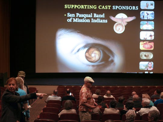 "The audience gets seated for a screening of ""Drunktown's Finest"" during the 2015 Native FilmFest on Wednesday at the Camelot Theatres in Palm Springs."