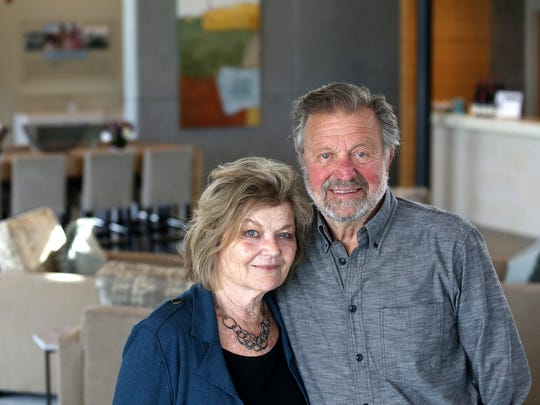 Dick and Nancy Ponzi are pictured Feb. 11, 2015, at their winery in the Dundee hills.