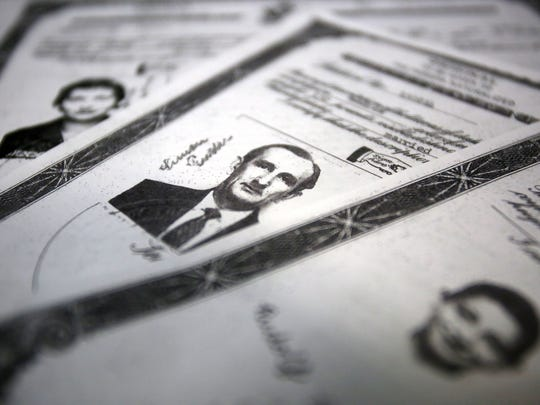 Freddi Wacken has copies of the naturalization papers of her parents, Maria Katharina Ruder and Simon Ruder, and her older brother, Rudolf — but not her own.