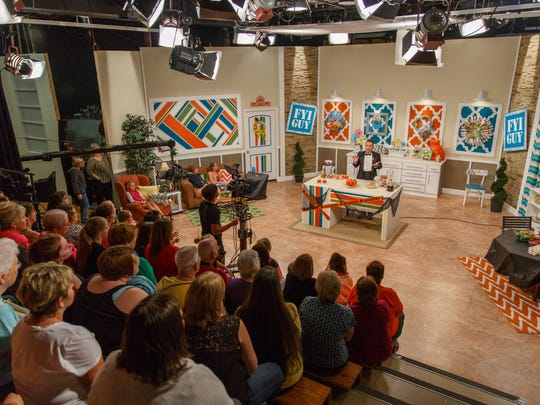 """An undated photo shows a taping for a Halloween episode of Jeremy Rabe's """"FYI Guy Live."""" Rabe, now on-air at KOLR and KOZL, is among many Springfield-based individuals and companies who have worked with Opfer Communications."""