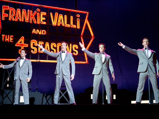 """(From left) John Lloyd Young, Erich Bergen, Vincent Piazza and Michael Lomenda in a scene from """"Jersey Boys."""""""