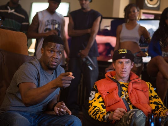 "Kevin Hart and Will Ferrell star in ""Get Hard."""