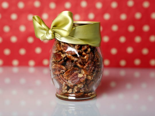 Spicy rosemary pecans.