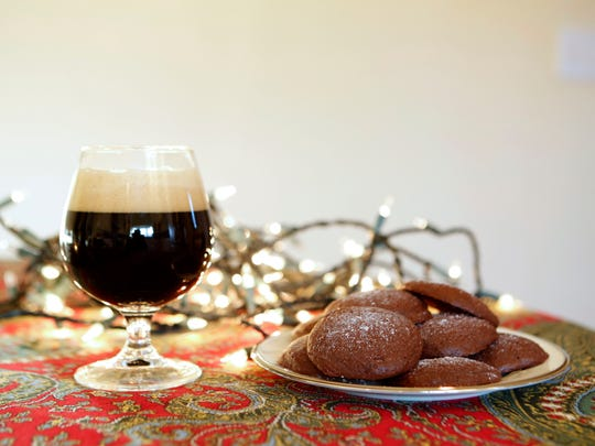 Cookies for the older kids: Salted dark chocolate cookies and stout.