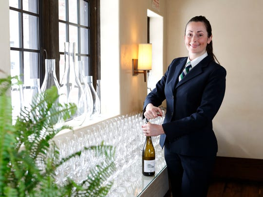 Tara O'Keefe, captain and FARMS graduate, leads the wait staff at Blue Hill at Stone Barns in Pocantico Hills.