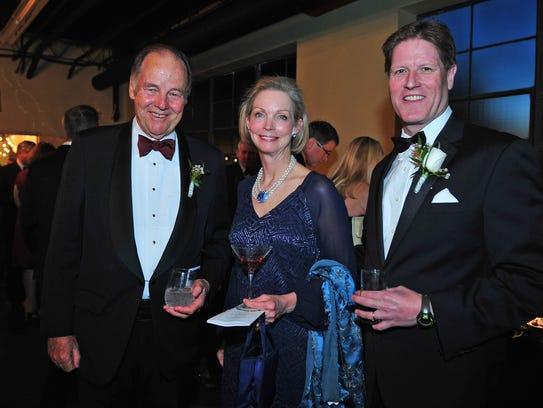 Former Gov. Thomas Kean with Adrienne and Dillard Kirby.