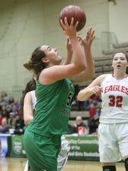 Seton Catholic Central's Julia Hauer scores in the