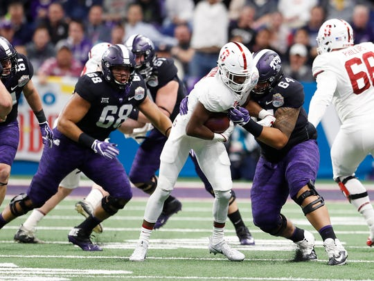 The Rams selected Texas Christian offensive tackle