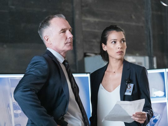 Patrick St. Esprit as Robert Hicks and Stephanie Sigman