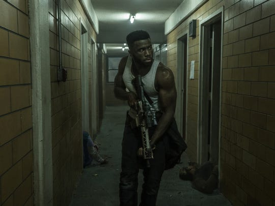 """Dmitri (Y'lan Noel) takes care of business in """"The First Purge."""""""