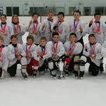The Port Huron Flags PeeWee A team won the Motown Cup.