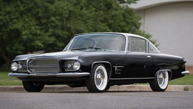 After Eugene Casaroll's Dual-Ghai Motors folded in 1958, a new company emerged to produce the 1961 Ghia 6.4-liter fastback coupe. Powered by a 383-cubic-inch Dodge V-8, it sold for an astounding $13,500. This is the ninth of 26 cars built.