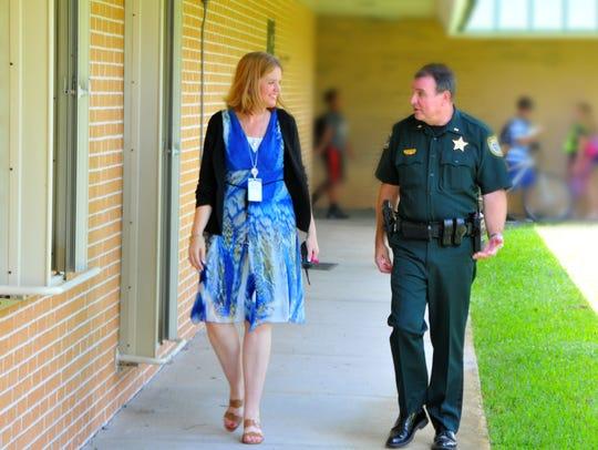 Oak park Elementary School principal Jennifer Rockwell