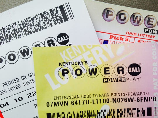 Powerball tickets for sale on Wednesday