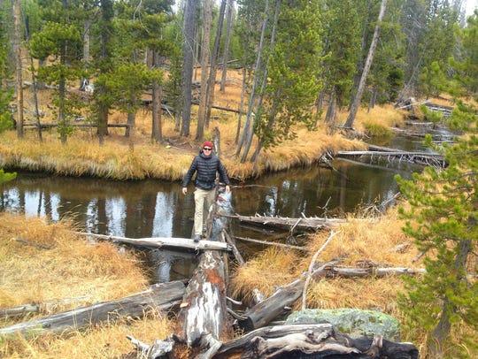 Two creek crossings add to the fun of the Ice Lake/Wolf