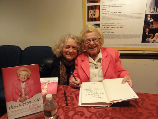 """""""Becoming Dr. Ruth"""" star Jane Ridley (left) shares"""