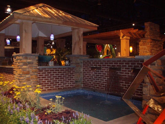 The Philadelphia Flower Show offers a variety of landscaped displays that can give ideas to gardeners.