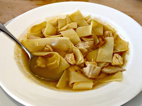 Turkey noodle soup is an easy meal to make with Thanksgiving leftovers.