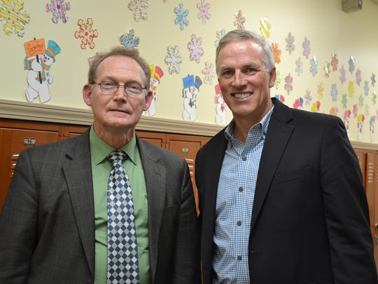 Harvest Temple Christian Academy administrator Bill Brown and Champion Group president Kent Wallace are working together to host a winter fundraiser at the school. Champion Group is a fundraising consulting service out of Michigan.
