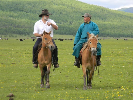 Greg Schatz, left, visited Mongolia to partake in a