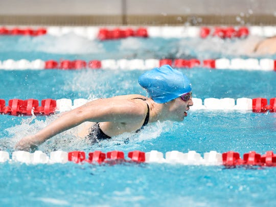 Brookelle Anderson from Northern Lebanon earned a consolation finals in two events, the girls' 50 and 100 free at the 2019 PIAA championships.